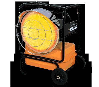 Val6 | KBE5L | Infrared Heater | 2 Step | 100000/118000 BTU | Portable