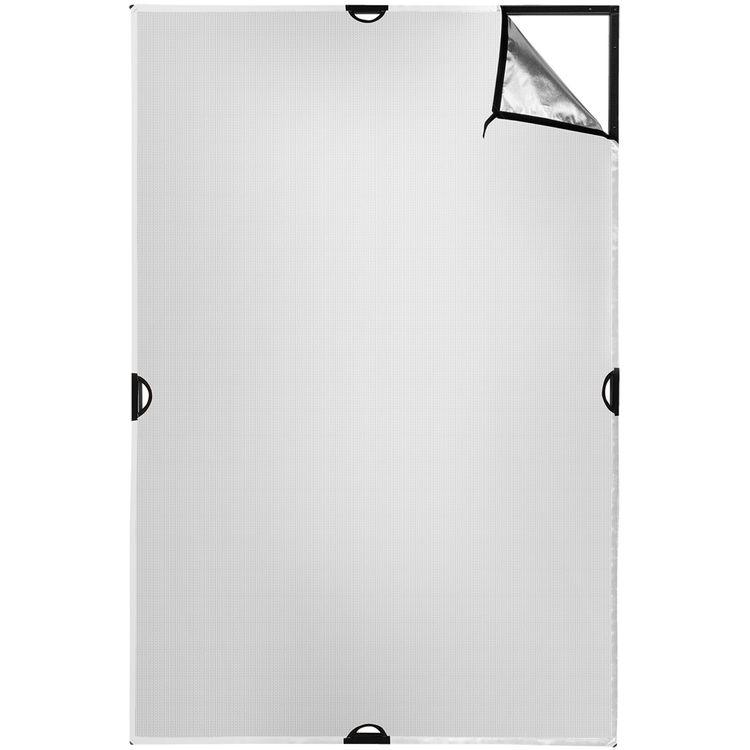 Scrim Jim | Fabric | 4x6' | Silver/White