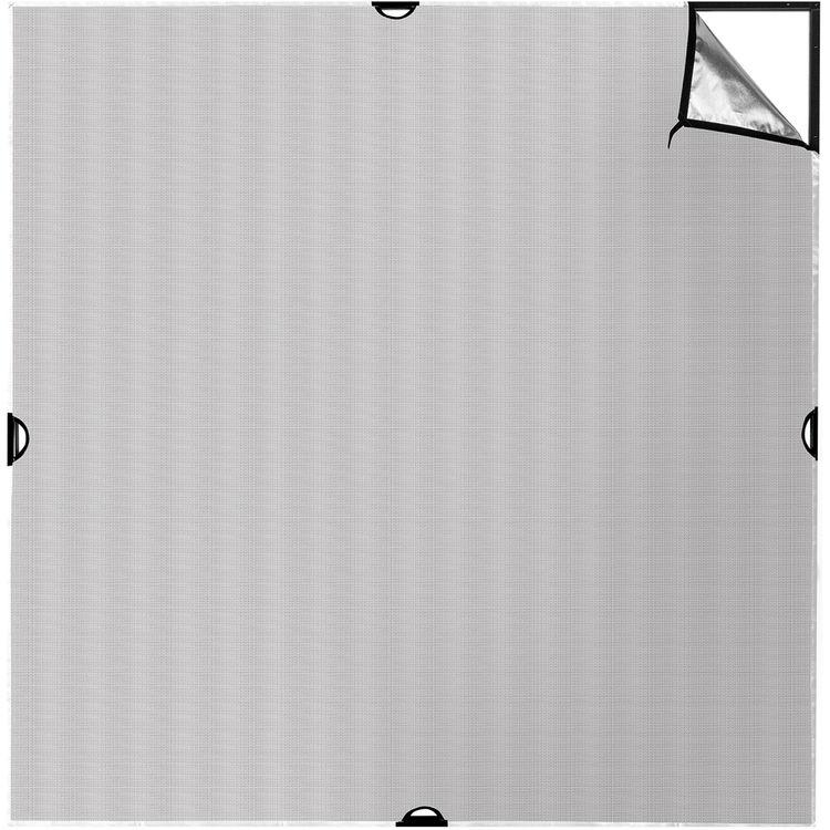 Scrim Jim | Fabric | 8x8' | Silver/White