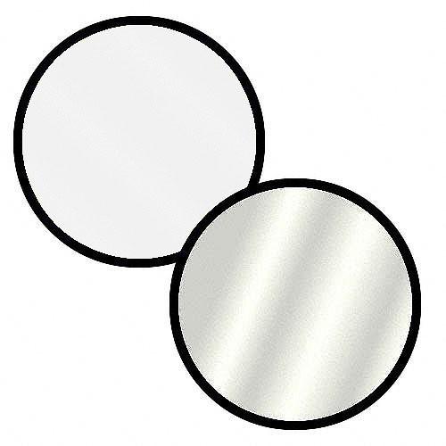 """Collapsible Circular Reflector Disc - 32"""" - Silver / White"""